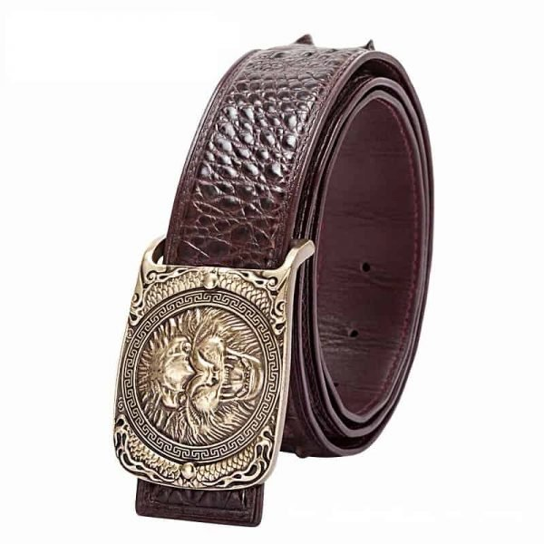 Crocodile skin leather belt for men,high-end, business. LB-6016-11