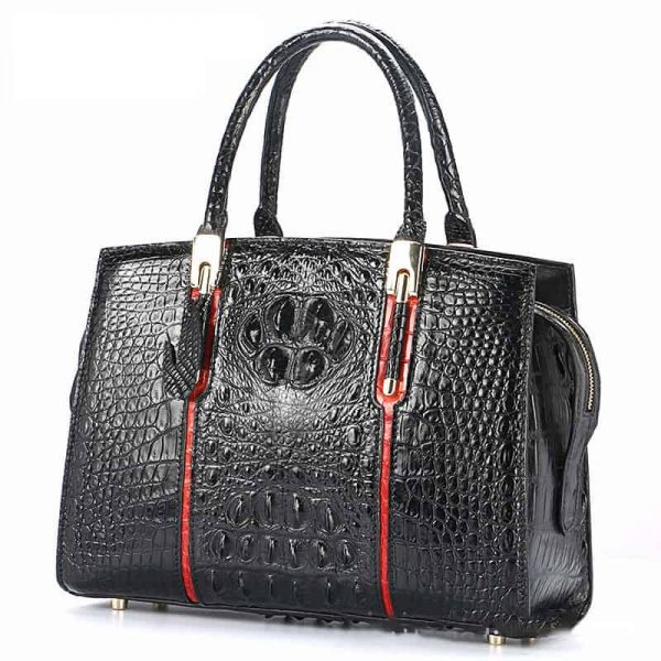 Crocodile skin leather handbag, high-end, for elegant women.LB-8114-1