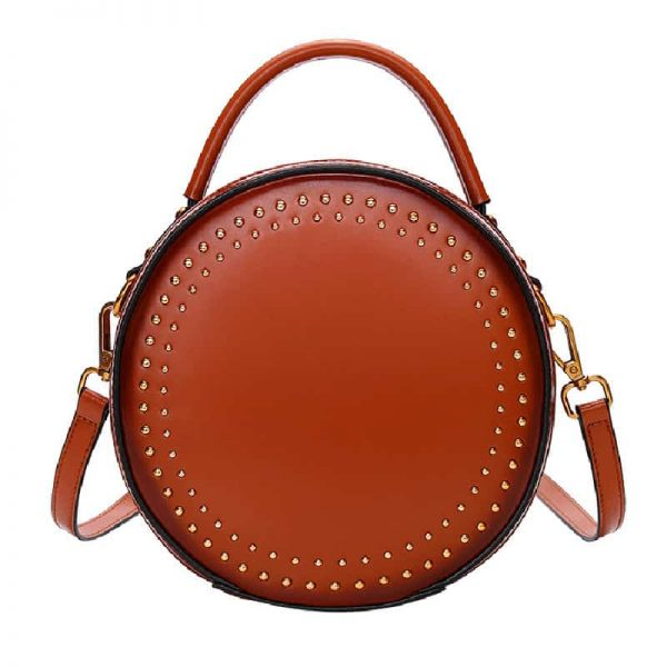 Women's leather handbag, retro, Crossbody handbag, fashion.181501-4