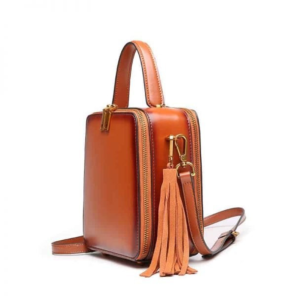 Leather handbag, fashion style, large capacity, square fashion bag.060-1
