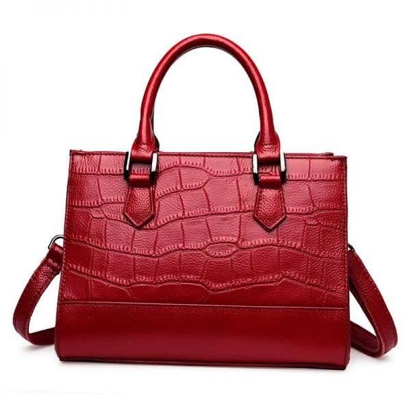 Women's leather handbag, ladies shoulder bag. 3168-1