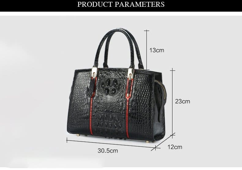 crocodile-skin-leather-handbag-high-end-for-elegant-women-lb-8114 details 001