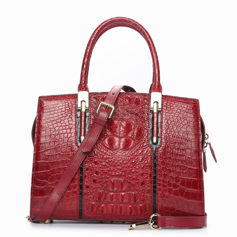 crocodile-skin-leather-handbag-high-end-for-elegant-women-lb-8114 red