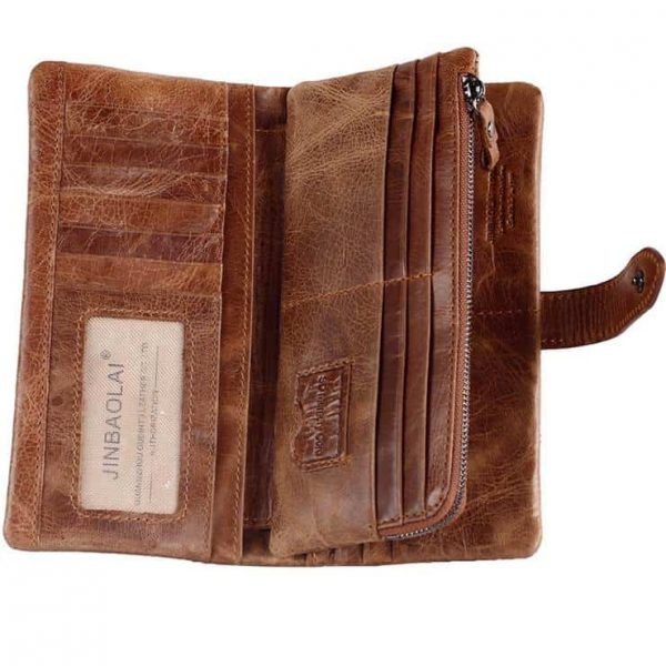 Men's leather wallet, multi-functional first coat of cow skin.8107-3-1