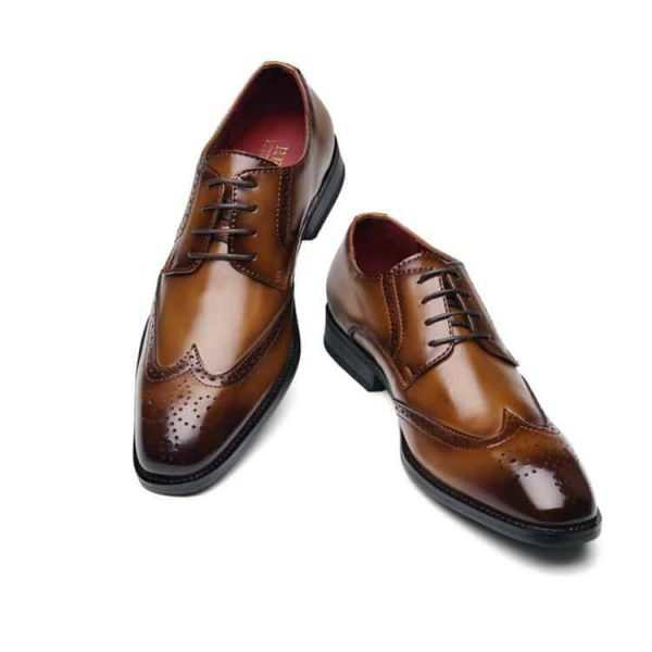 Men's leather shoes, business designed shoes, high quality leather. 3210-6-1