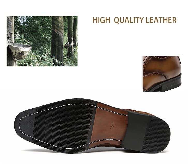 Men's leather shoes, business designed shoes, high quality leather. 3210-6-13