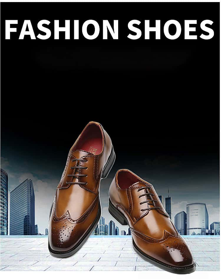 Men's leather shoes, business designed shoes, high quality leather. 3210-6-22