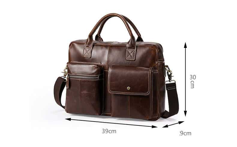Men's leather handbags, business briefcase Messenger bag.n7212 back black-13