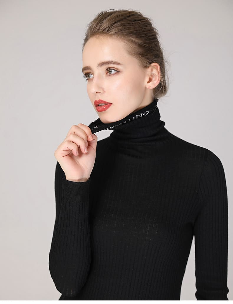 Women's sweater, pure wool casual pile collar pullover.S4-E906-12