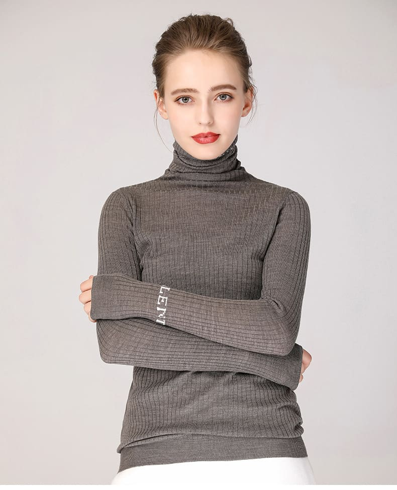 Women's sweater, pure wool casual pile collar pullover.S4-E906-13
