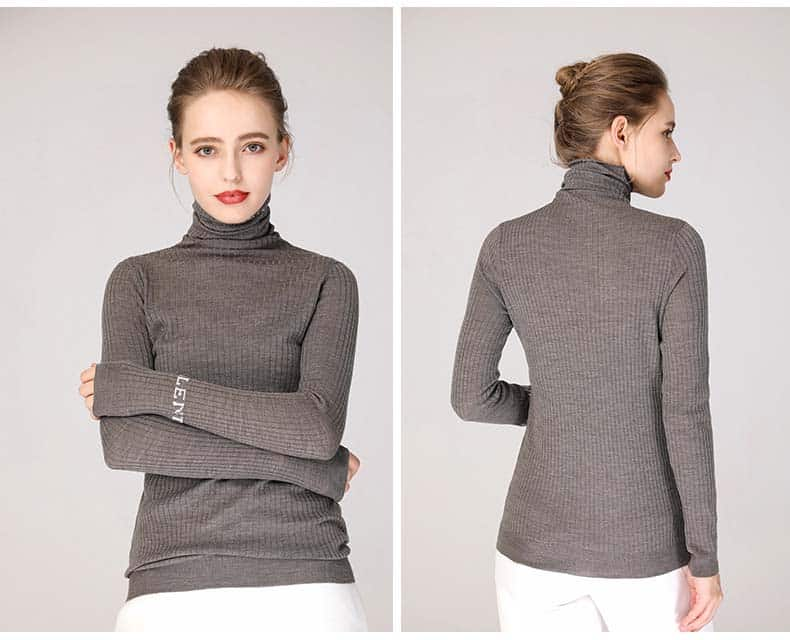 Women's sweater, pure wool casual pile collar pullover.S4-E906-19