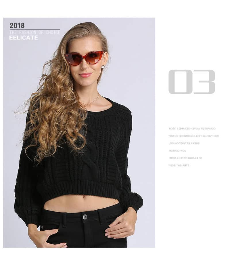 Women's sweater, short round neck loose pullover.Hx1727-07