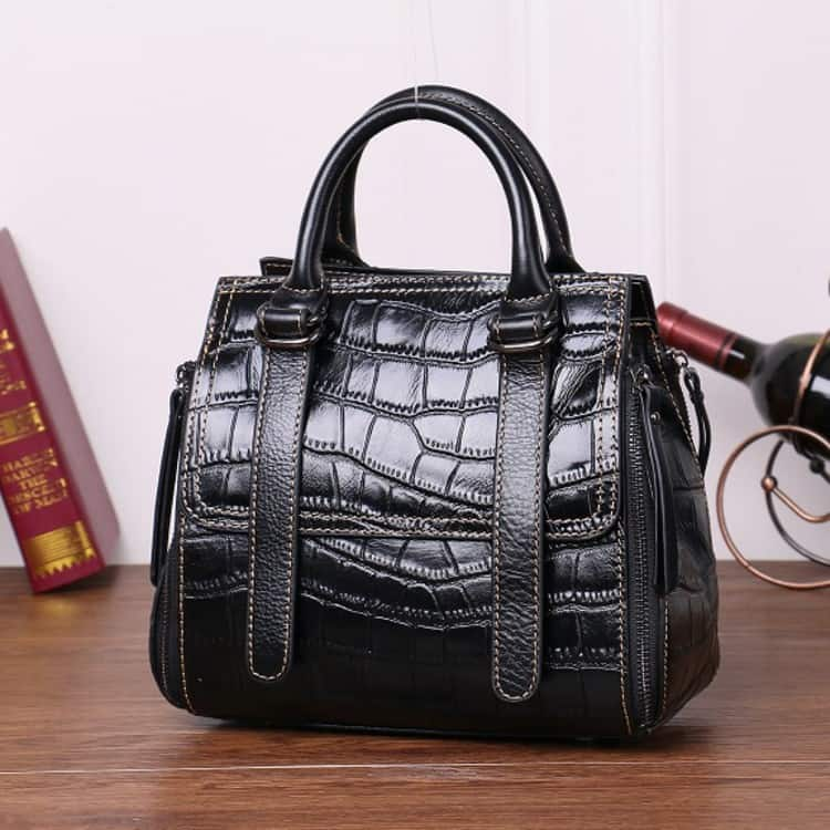 Women's leather handbag, Cowhide fashion messenger handbag. A533-1-2