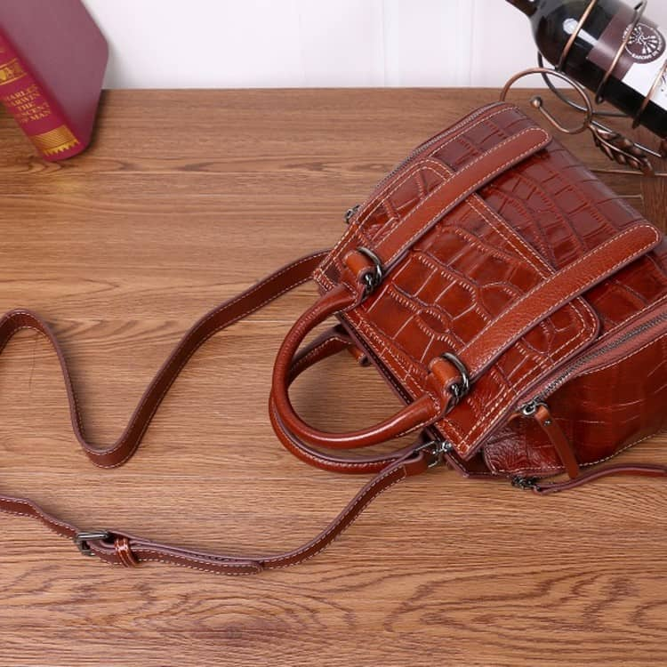 Women's leather handbag, Cowhide fashion messenger handbag. A533-1-3