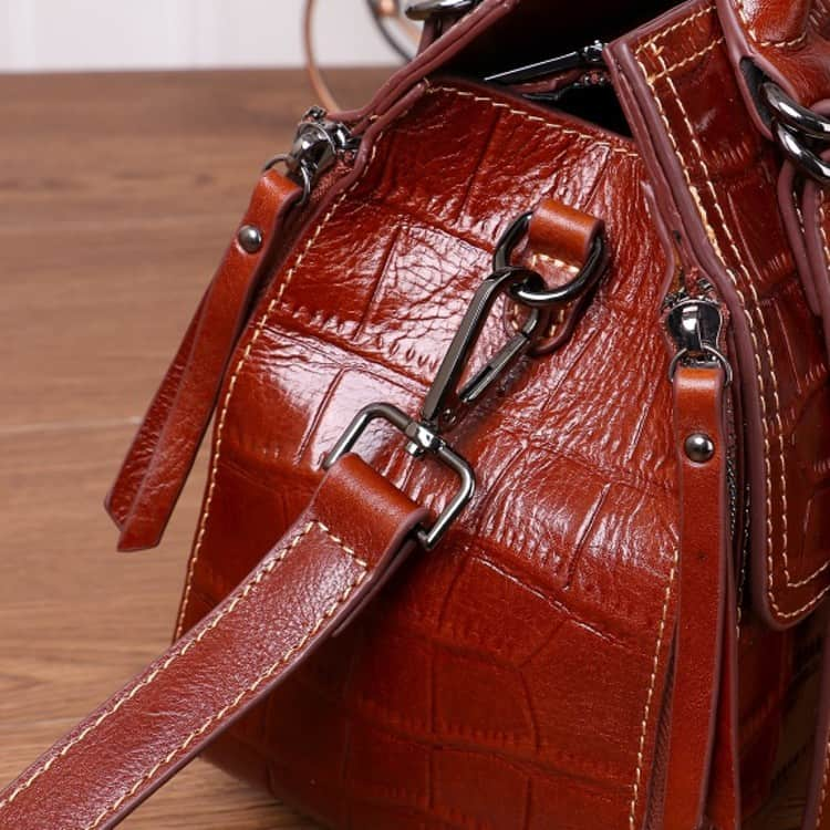 Women's leather handbag, Cowhide fashion messenger handbag. A533-1-6