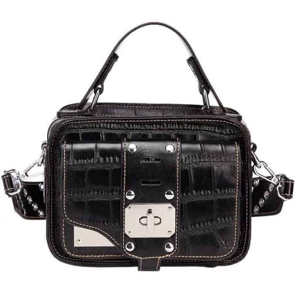 Women's leather handbag, Messenger Bag. Top Layer Bag.A908