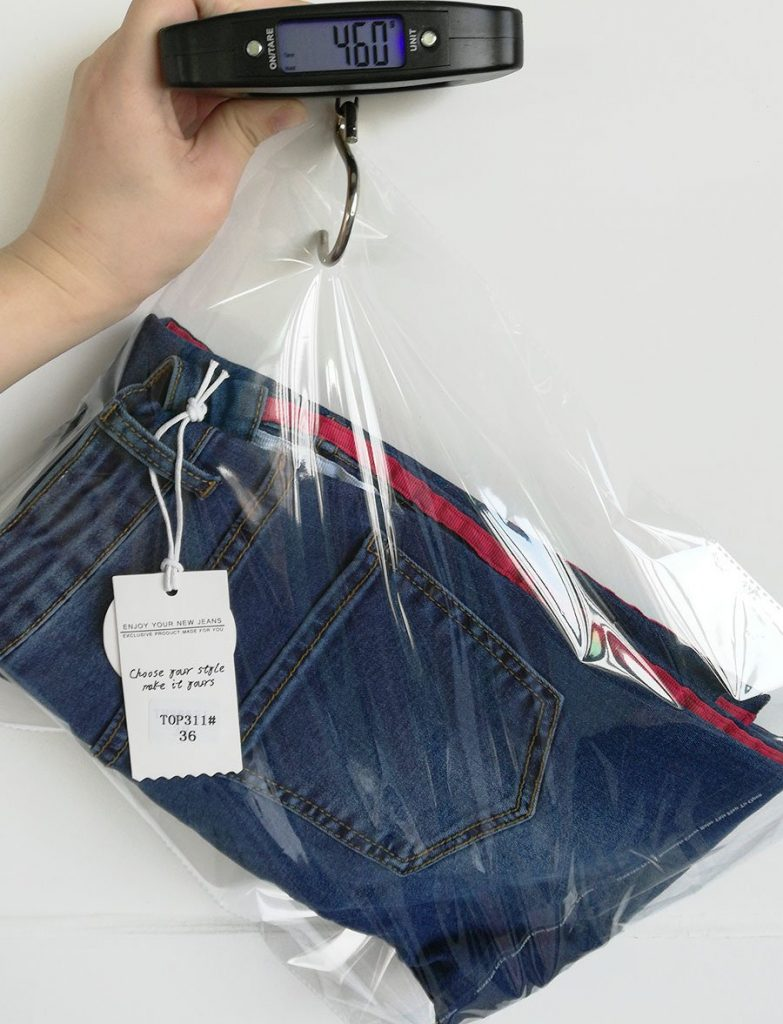 Women's denim pants, two-color ribbon micro-light jeans.TOP311 model 06