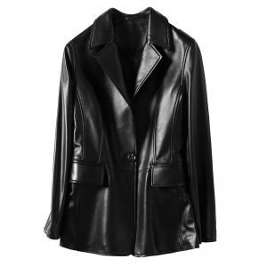 Women's leather jacket, fashion sheep skin small suit jacket.HQ20-CLR8205A